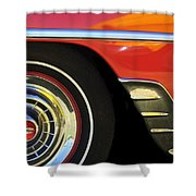 1954 Chevrolet Convertible Wheel Shower Curtain