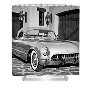1954 Chevrolet Corvette -183bw Shower Curtain