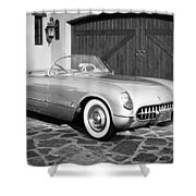 1954 Chevrolet Corvette -203bw Shower Curtain