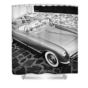 1954 Chevrolet Corvette -270bw Shower Curtain