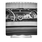 1954 Chevrolet Corvette Steering Wheel -139bw Shower Curtain