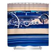 1954 Chevrolet Corvette Steering Wheel -139c Shower Curtain