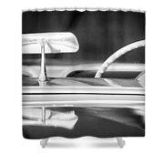 1954 Chevrolet Corvette Steering Wheel -311bw Shower Curtain