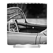 1954 Chevrolet Corvette Steering Wheel -407bw Shower Curtain
