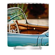 1954 Chevrolet Corvette Steering Wheel -407c Shower Curtain