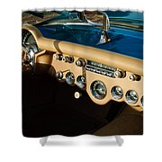 1954 Chevrolet Corvette Steering Wheel -502c Shower Curtain