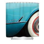 1954 Chevrolet Corvette Wheel Emblem -282c Shower Curtain