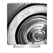 1954 Chevrolet Corvette Wheel Emblem -290bw Shower Curtain