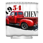 1954 Chevy Shower Curtain
