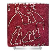 1954 De La Salle Monaco Stamp Shower Curtain