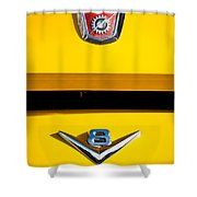 1954 Ford F-100 Custom Pickup Truck Emblems Shower Curtain