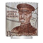 1954 General John J. Pershing Stamp Shower Curtain