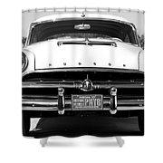 1954 Hudson Hornet In Black Shower Curtain