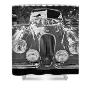 1954 Jaguar Xk 120 Se Ots Bw Shower Curtain