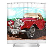 1954 M G T F  Shower Curtain
