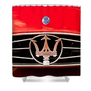 1954 Maserati A6 Gcs Grille Emblem -0259c Shower Curtain
