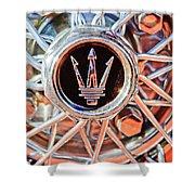 1954 Maserati A6 Gcs Wheel Rim Emblem Shower Curtain