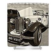 1954 Mg Td Sepia Shower Curtain