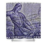 1954 Nebraska Territorial Stamp Shower Curtain