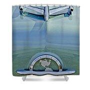 1954 Oldsmobile Super 88 Hood Ornament Shower Curtain by Jill Reger