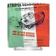1954 Xxi Mille Miglia Shower Curtain