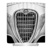 1955 Alfa Romeo 1900 Css Ghia Aigle Cabriolet Grille Emblem -0564bw Shower Curtain