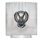 1955 Buick Special Hood Ornamant Shower Curtain