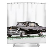 1955 Cadillac Series 62 Convertible Shower Curtain
