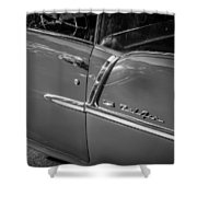 1955 Chevrolet Bel Air Bw  Shower Curtain