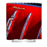 1955 Chevrolet Belair Nomad Hood Ornament -559c Shower Curtain