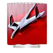1955 Chevrolet Belair Nomad Hood Ornament Shower Curtain
