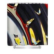 1955 Chevrolet Belair Nomad Wheel Shower Curtain