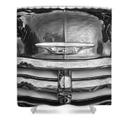 1955 Chevrolet First Series Bw Shower Curtain