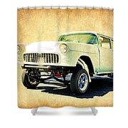 1955 Chevrolet Gasser Shower Curtain