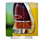1955 Chevrolet Taillight Emblem Shower Curtain