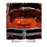 1955 Chevrolet Truck-american Classics-front View Shower Curtain