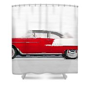 1955 Chevy Bel Air Watercolor Shower Curtain
