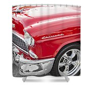 1955 Chevy Cherry Red Shower Curtain