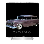 1955 Chevy Handyman Wagon Shower Curtain