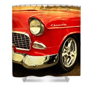 1955 Chevy Red Shower Curtain