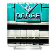 1955 Dodge C-3-b8 Pickup Truck Grille Emblem Shower Curtain by Jill Reger