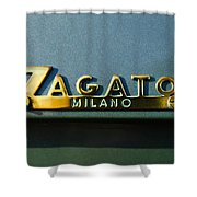 1955 Fiat 8v Zagato Emblem Shower Curtain