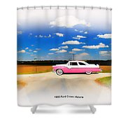 1955 Ford Crown Victoria Sweet Shower Curtain