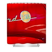 1955 Ford F-100 Pickup Truck Side Emblem -3515c Shower Curtain