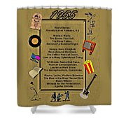 1955 Great Events Shower Curtain