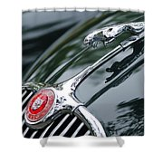 Jaguar Xk 150 Hood Ornament  Shower Curtain