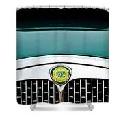 1955 Lancia Aurelia B24 Spyder America Roadster Grille Emblem Shower Curtain