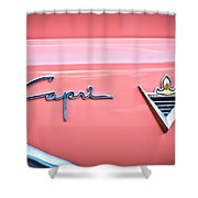1955 Lincoln Capri Emblem 2 Shower Curtain