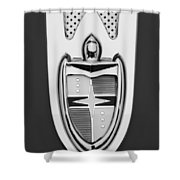1955 Lincoln Indianapolis Boano Coupe  Emblem -0283bw Shower Curtain