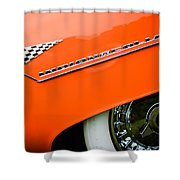 1955 Lincoln Indianapolis Boano Coupe Emblem -0295c Shower Curtain